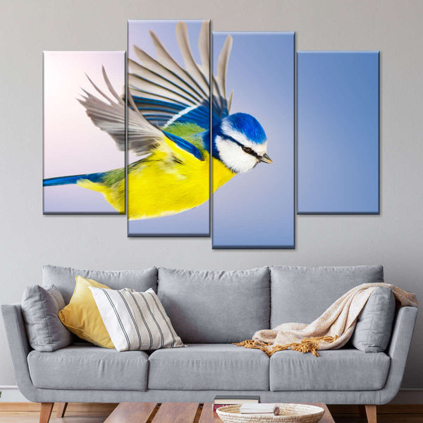 Tropical Parrot Framed Canvas Prints Wall Art Pictures Oil Painting Re-Print