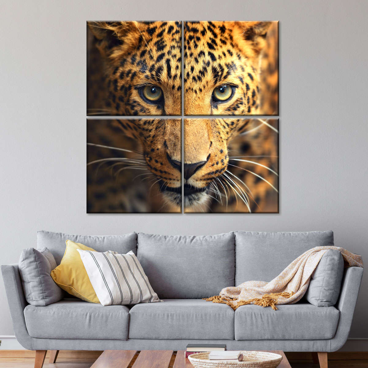 Tropical Leopard Cat Family Wall Picture Art Print