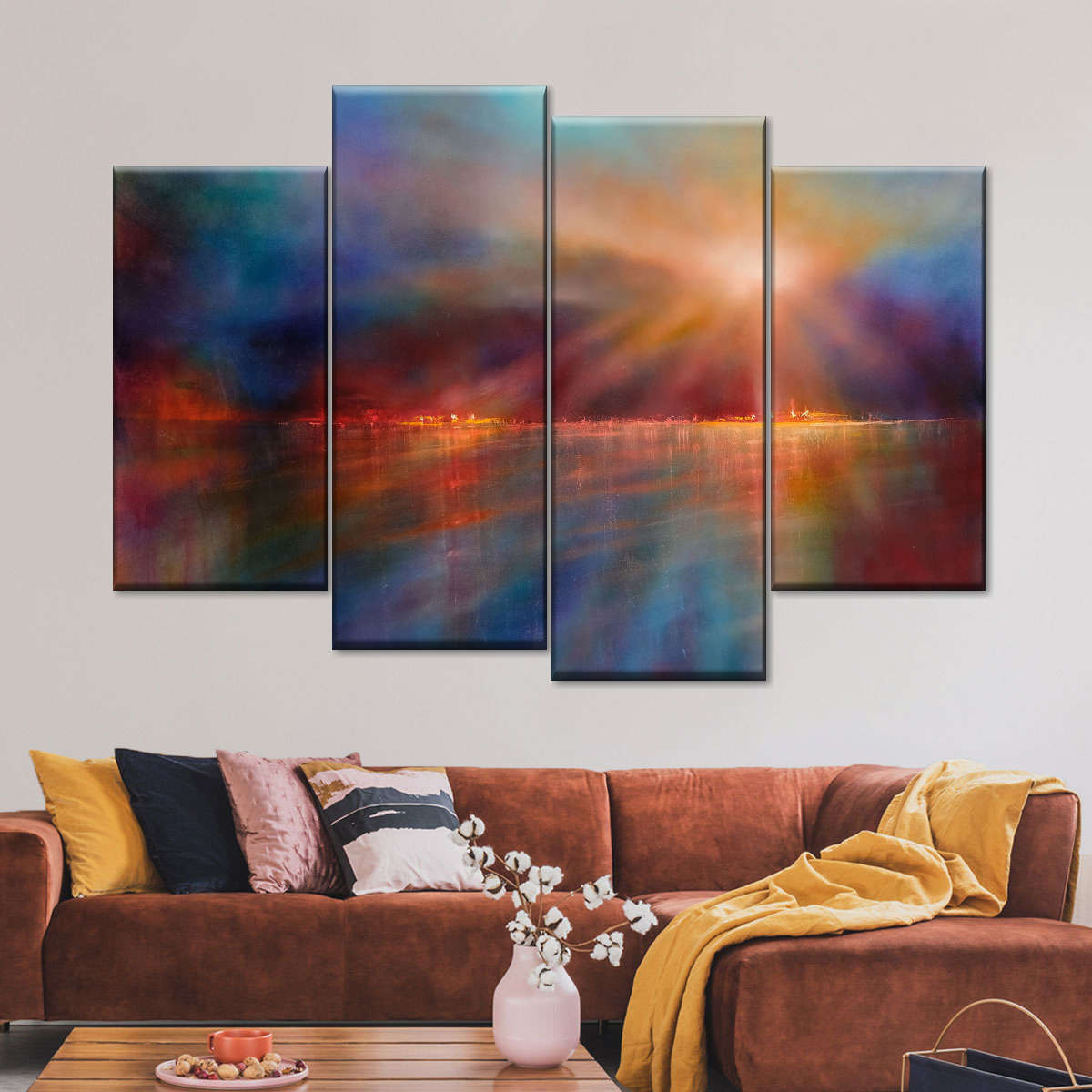 Another Morning Multi Panel Canvas Wall Art