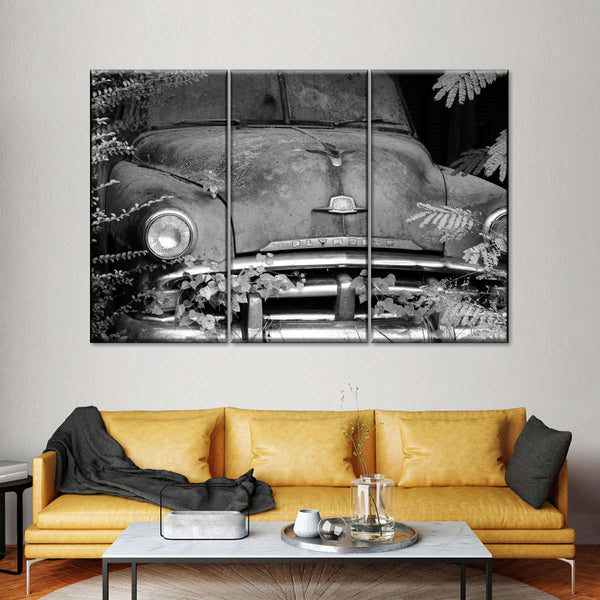 Plymouth Grill BW Multi Panel Canvas Wall Art