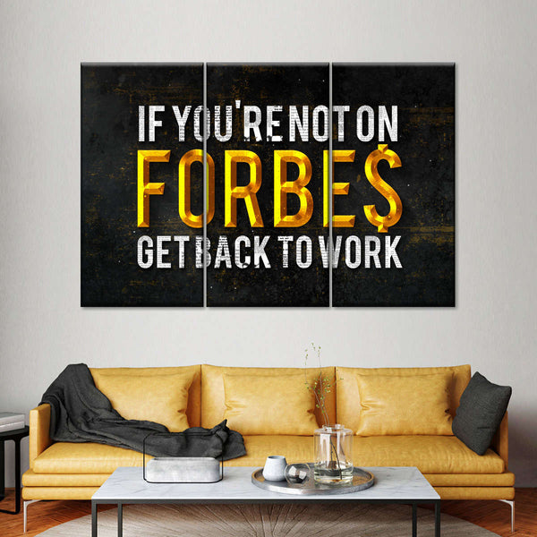 Forbes List Multi Panel Canvas Wall Art