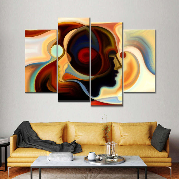 Colorful Mind Multi Panel Canvas Wall Art