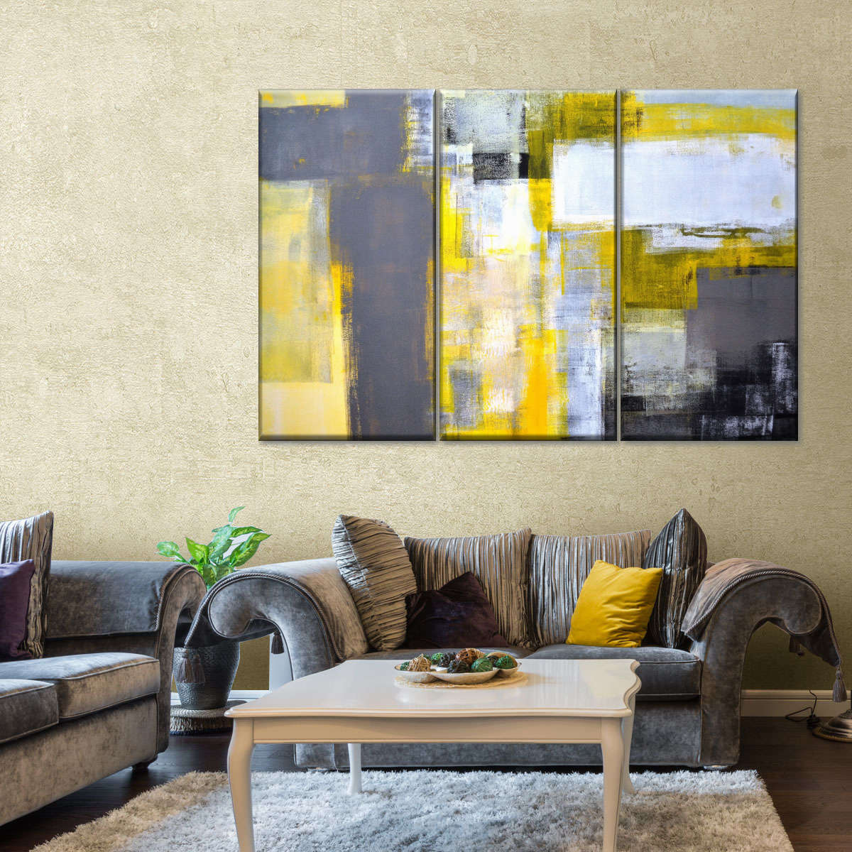 Abstract Expressionism Multi Panel Canvas Wall Art