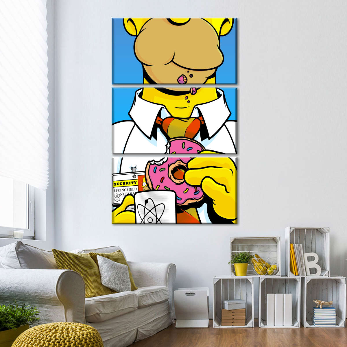 Amazon Com Homer Simpson Cinema The Simpsons Decor Motivational Quotes Wall Decals Pop Art Gifts Portrait Framed Famous Paintings On Acrylic Canvas Poster Prints Artwork Geek 10x10 25 4cm X 25 4cm Posters Prints