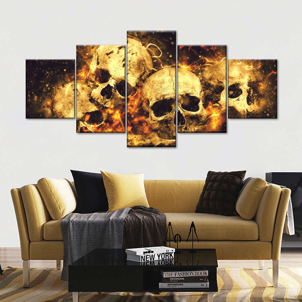 Fire And Flame Multi Panel Canvas Wall Art