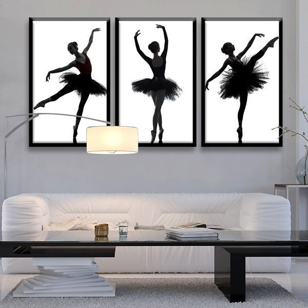 Multi Frame Wall Art ballet technique multi panel canvas wall art – elephantstock