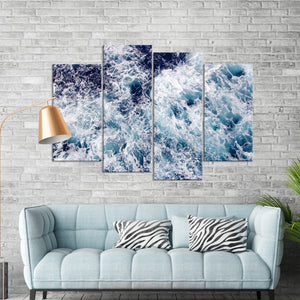 Ocean Flow Multi Panel Canvas Wall Art - Surfing