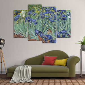 Irises Multi Panel Canvas Wall Art - Classic_art