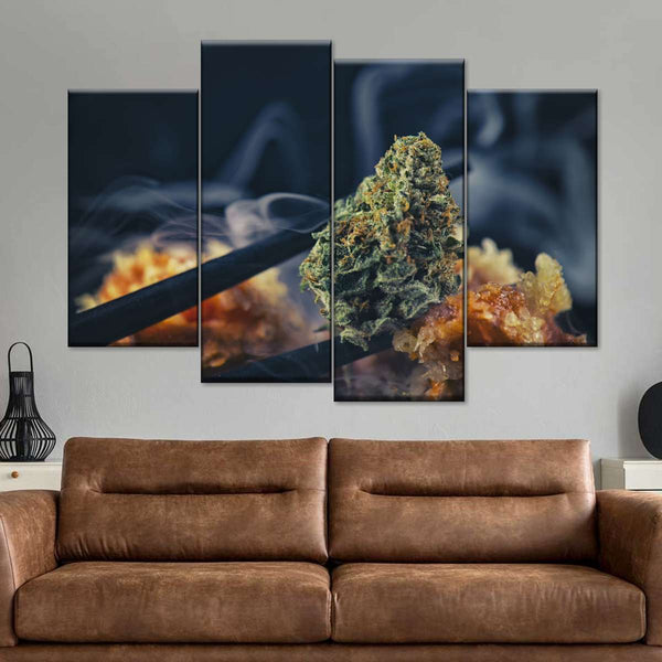 Marijuana Smoke Multi Panel Canvas Wall Art