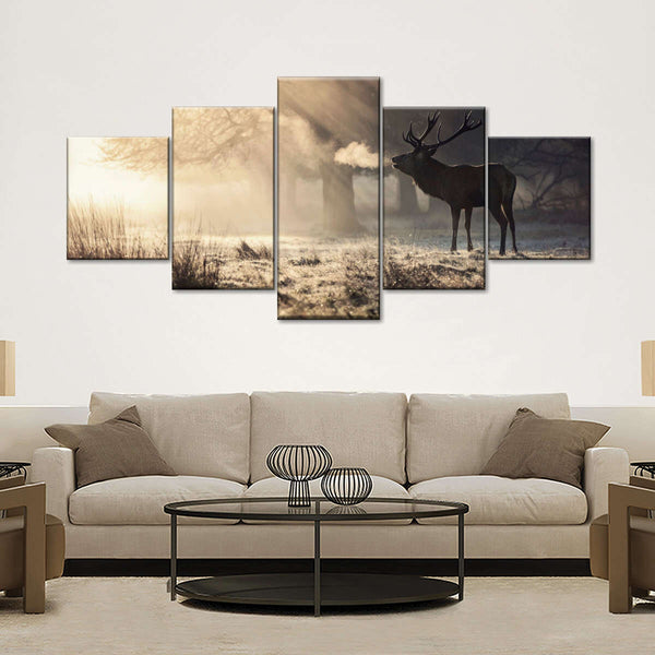 Winter Hunting Multi Panel Canvas Wall Art