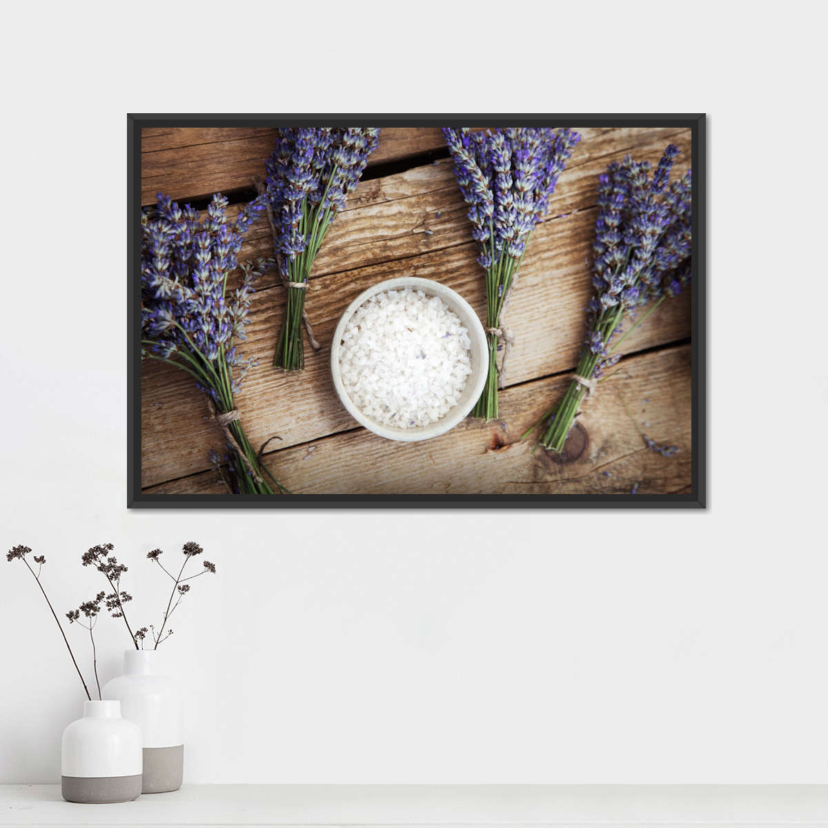 Relaxing Lavender Multi Panel Canvas Wall Art