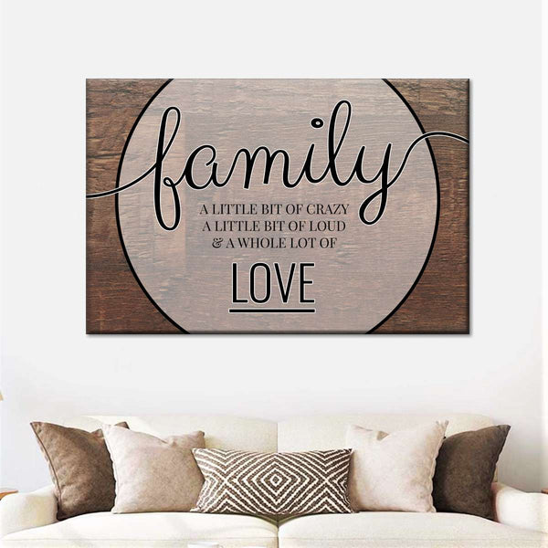 A Whole Lot Of Love Canvas Wall Art