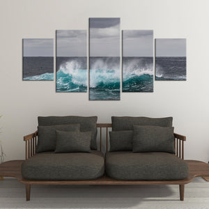 Sea Wave Pop Multi Panel Canvas Wall Art - Surfing