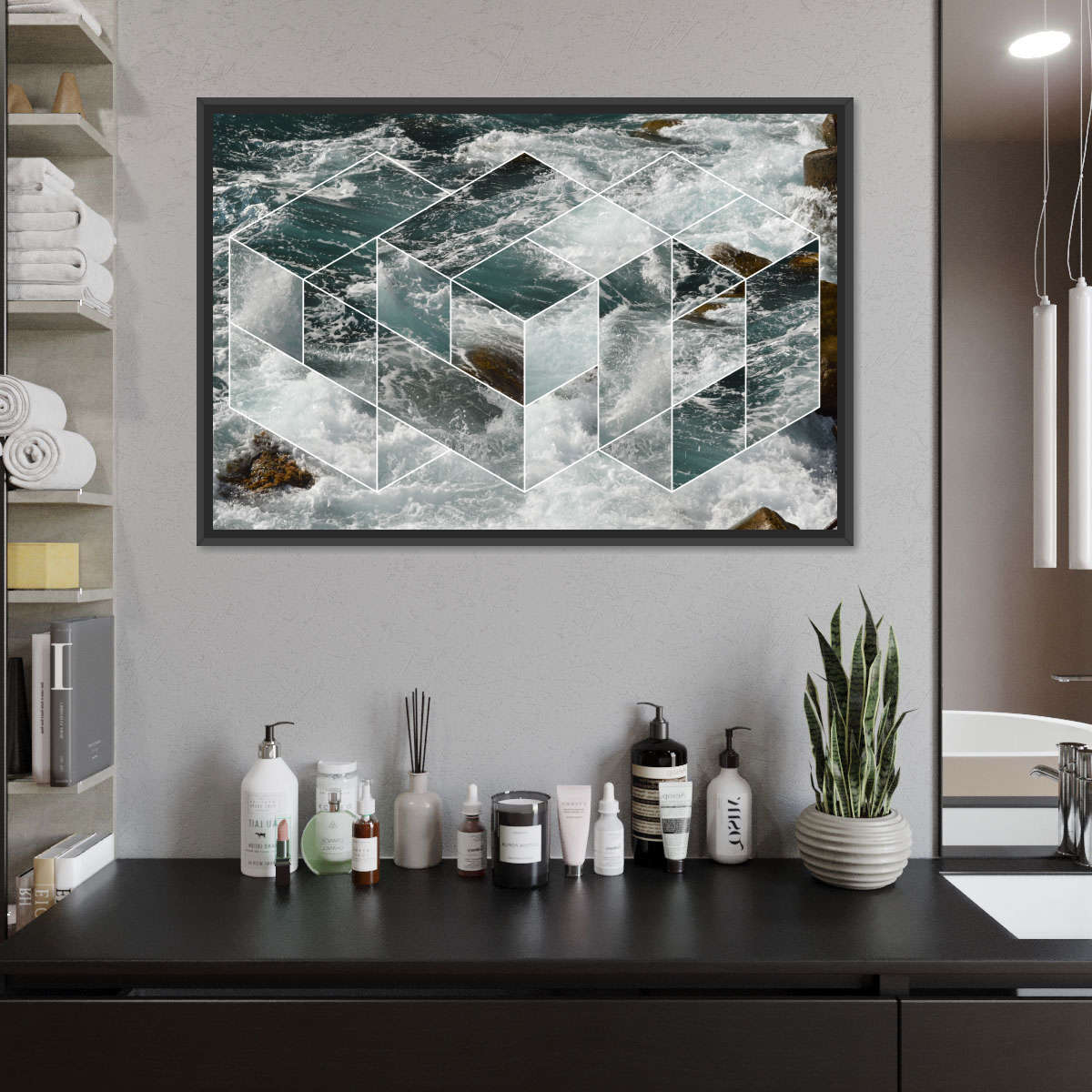 Formation Of Waves Multi Panel Canvas Wall Art