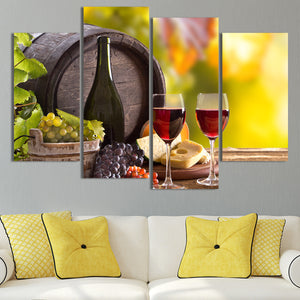 Summer Branch Multi Panel Canvas Wall Art - Winery