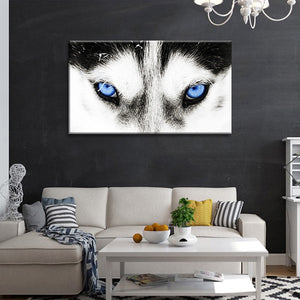 Wolf's Eyes Multi Panel Canvas Wall Art - Wolf