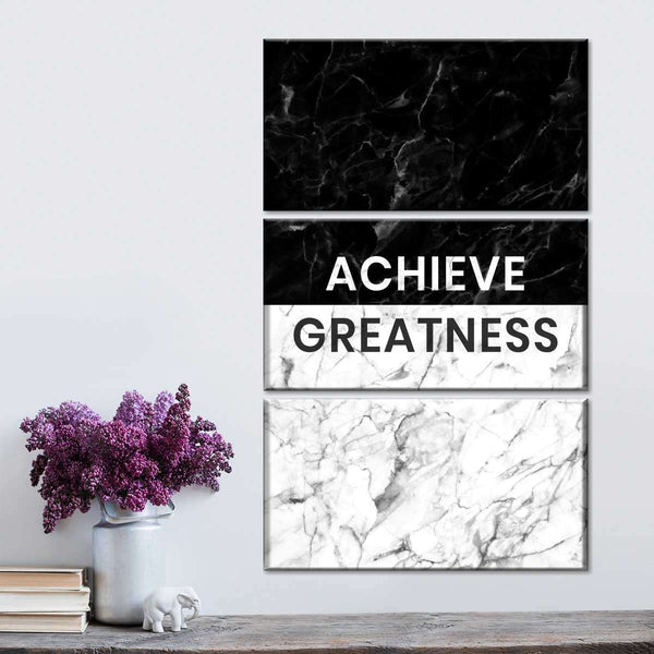 Achieve Greatness Multi Panel Canvas Wall Art