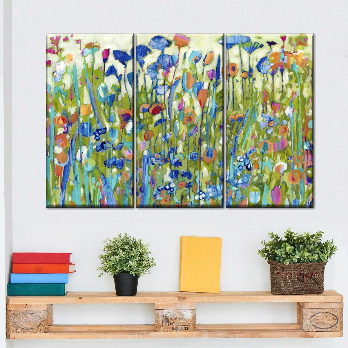 Out Of The Blues Multi Panel Canvas Wall Art