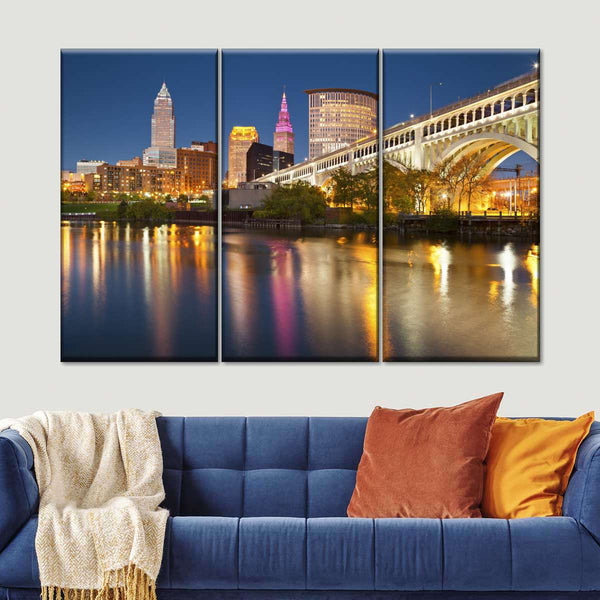 Cleveland Multi Panel Canvas Wall Art