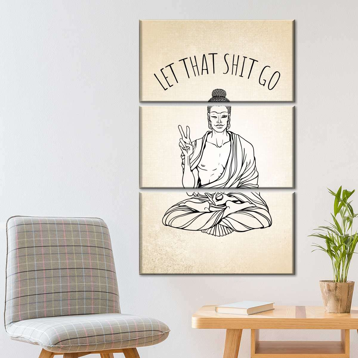 Millenial Buddha Multi Panel Canvas Wall Art