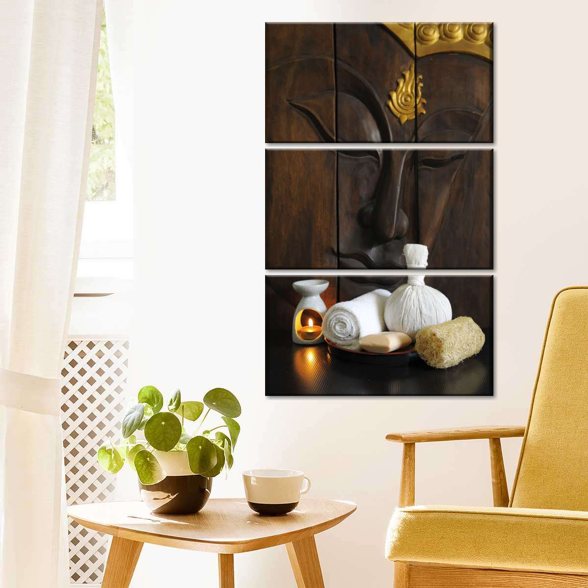 Harmonious Buddha Multi Panel Canvas Wall Art