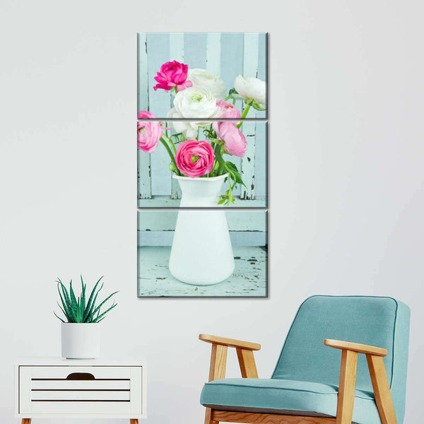 Blossoming Vintage Multi Panel Canvas Wall Art