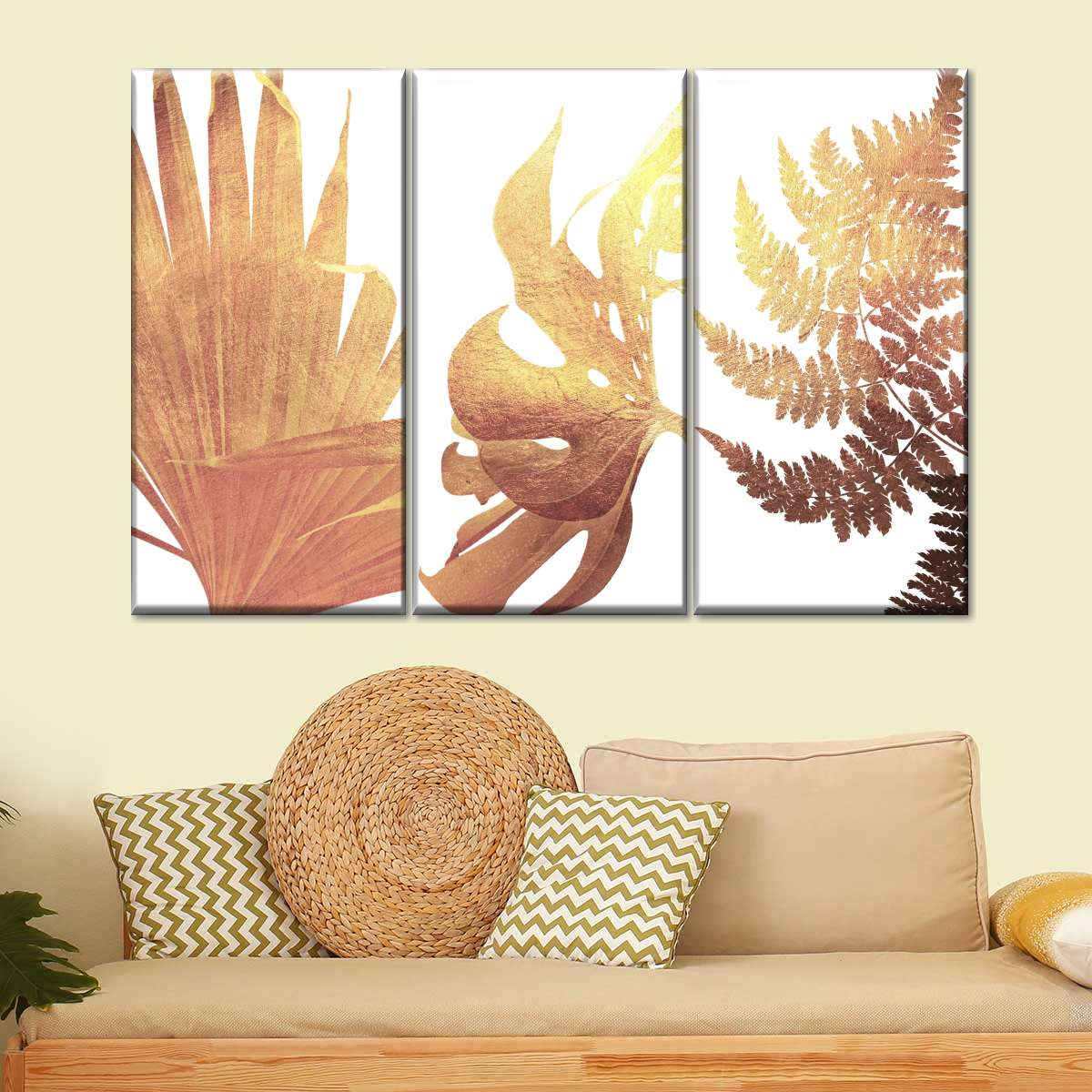 Gold Botanical Canvas Set Wall Art