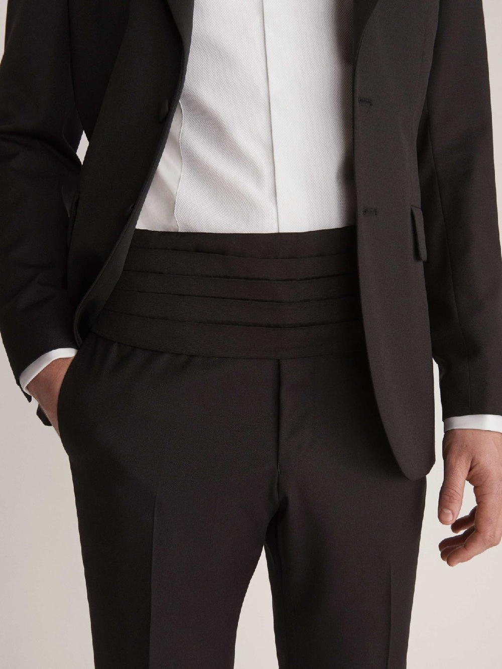 Mens Wedding Suits For Men - Black Cummberbund