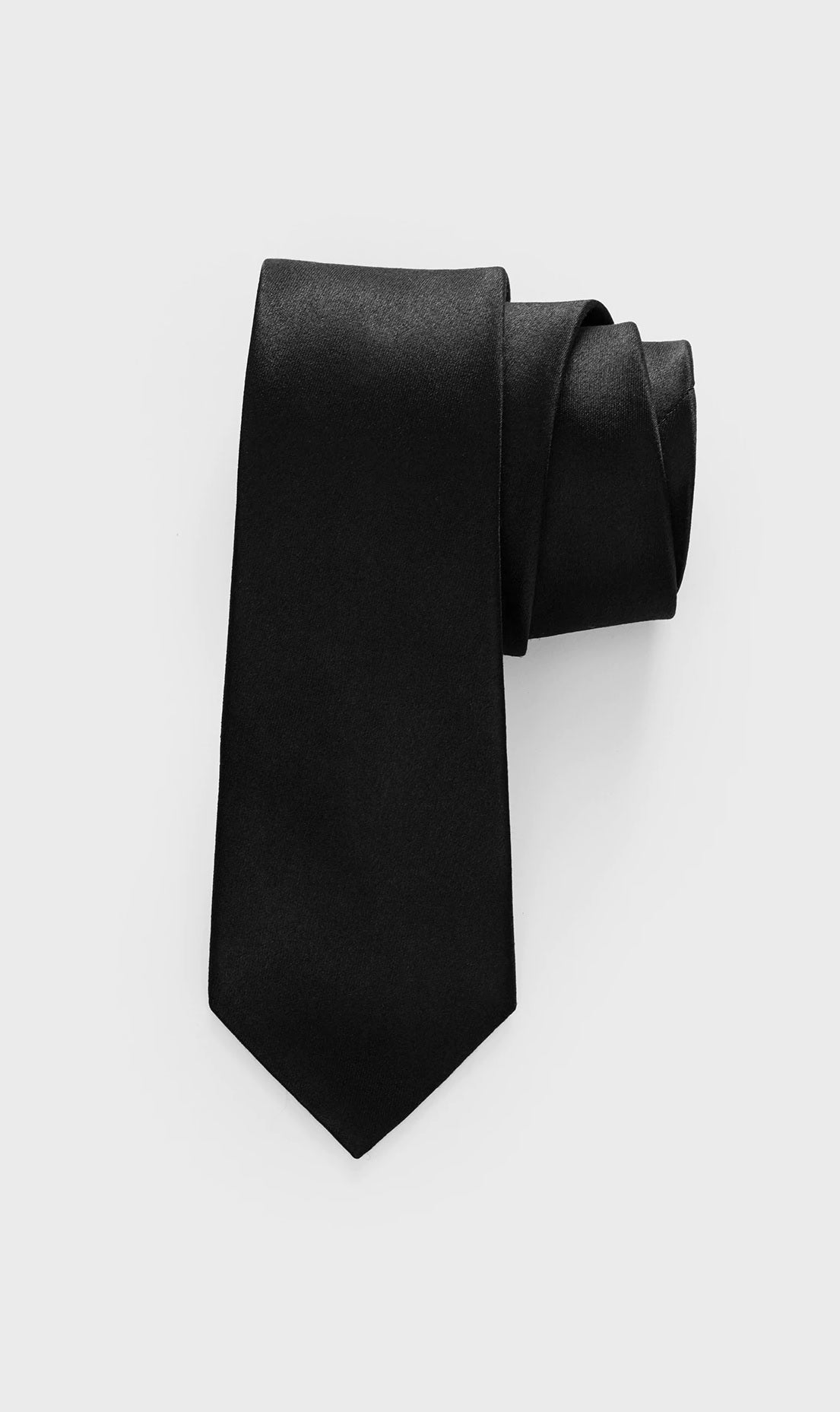 Black Satin Necktie