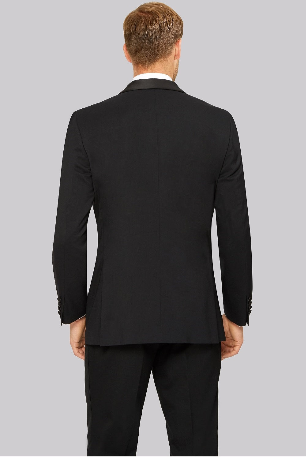 Classic Shawl Collar Suit in Black - Classique Formalwear Brisbane