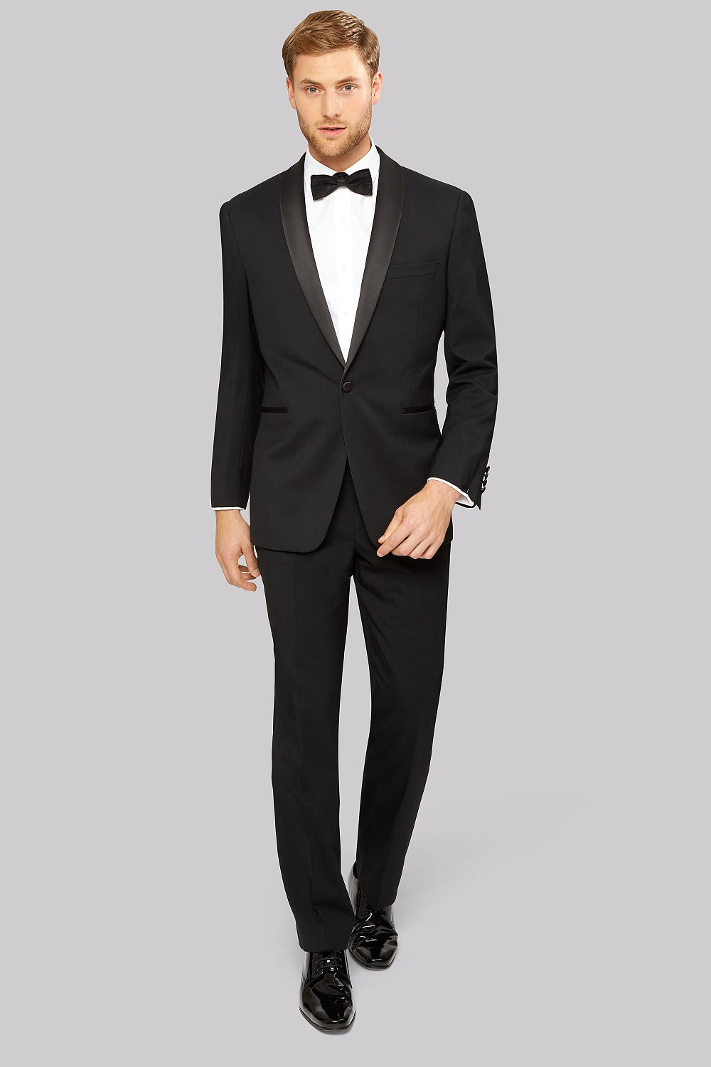 Classic Shawl Collar Tuxedo in Black