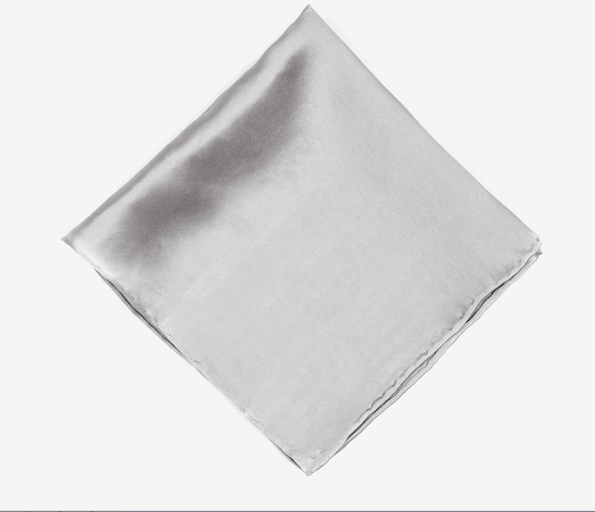 Silver Pocket Square
