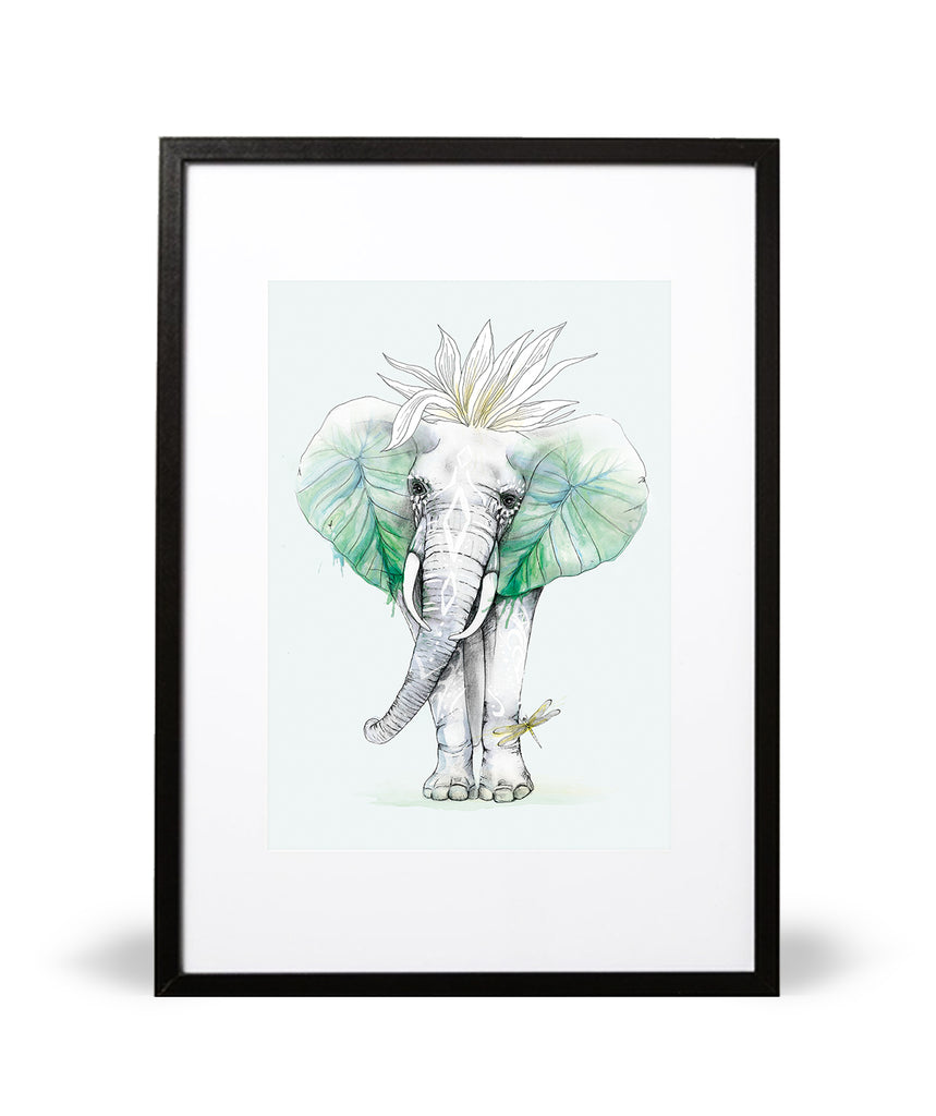 Royal Elephant Illustrative Print - Intricate Collections