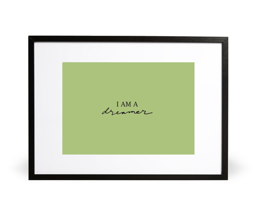 I am a Dreamer in Sage - Intricate Collections