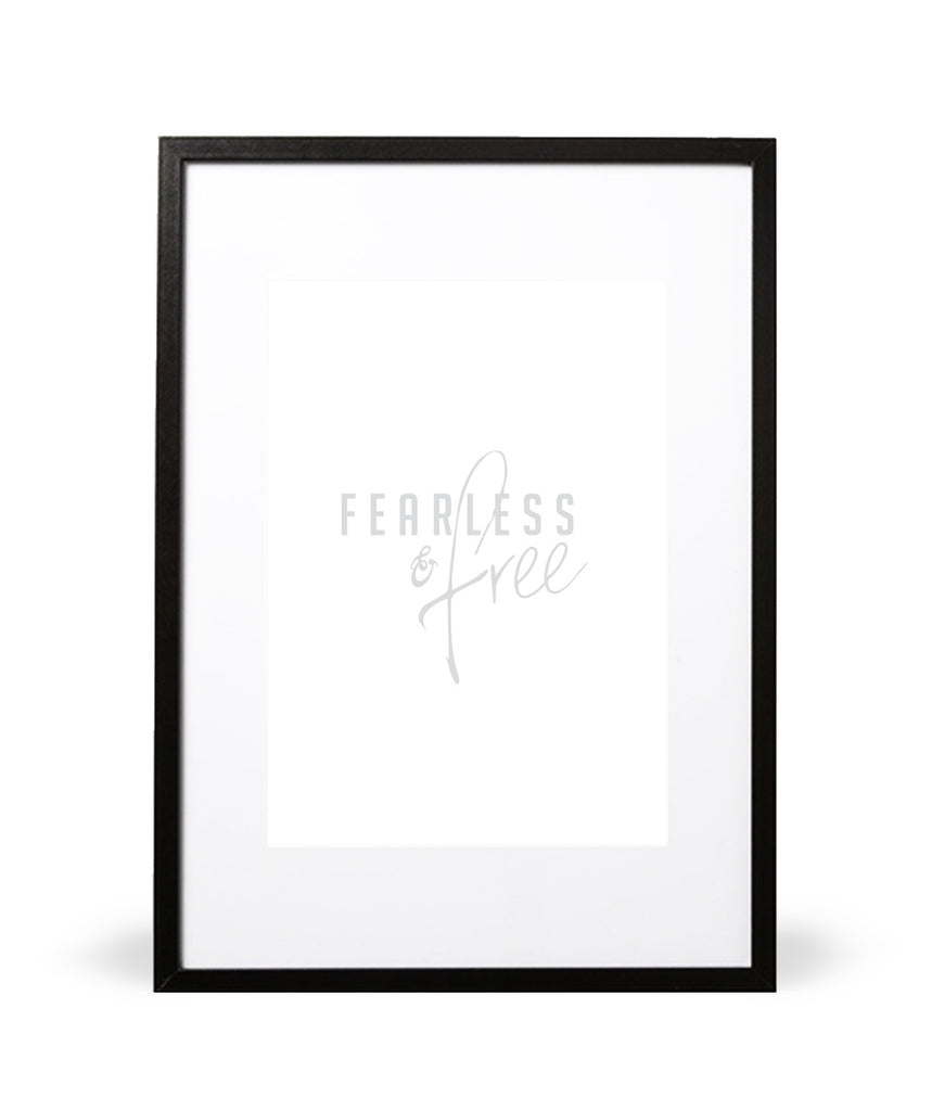 Fearless & Free Art Print in White - Intricate Collections