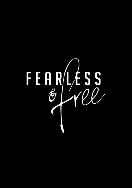 Fearless & Free Art Print in Black - Intricate Collections