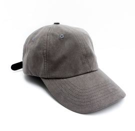 Dark Grey Suede Dad Hat