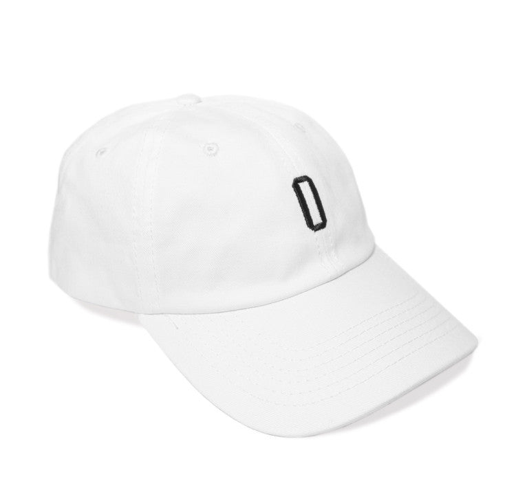 6 Panel White Unstructured Cap
