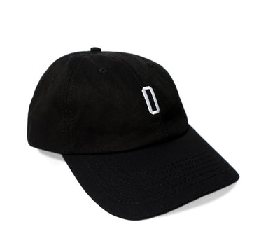 6 Panel Black Unstructured Cap