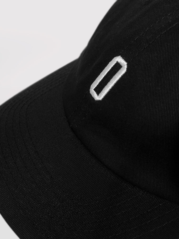 6 Panel Black Dad Hat