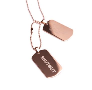 Dog Tags (Rose Gold)