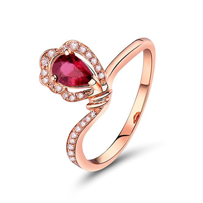 2b94f215a8f Vintage Ruby 14K White Gold Natural Diamond Wedding Ring for Women