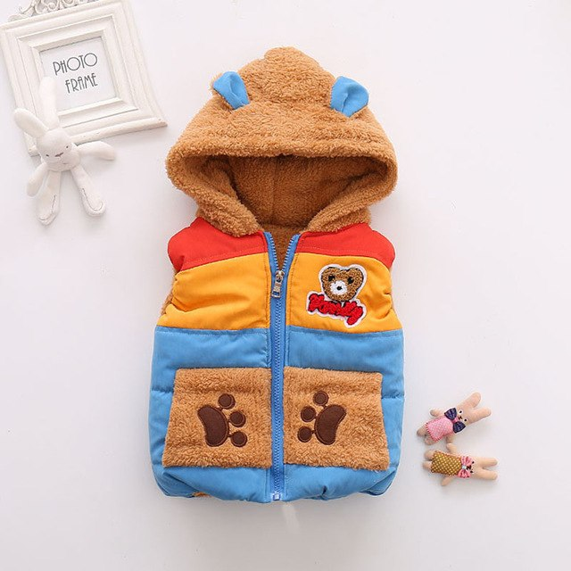15c377d2af4f2 Bear Hoodie Winter Vest - Cute Baby Suits