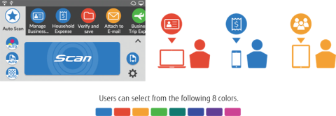 ix1600 icon colours can be selected for each user