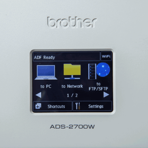 Brother ADS-2700W control panel 1