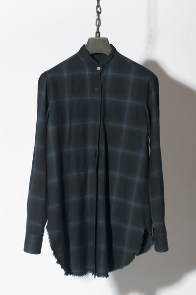 Raw Edged Check Shirt