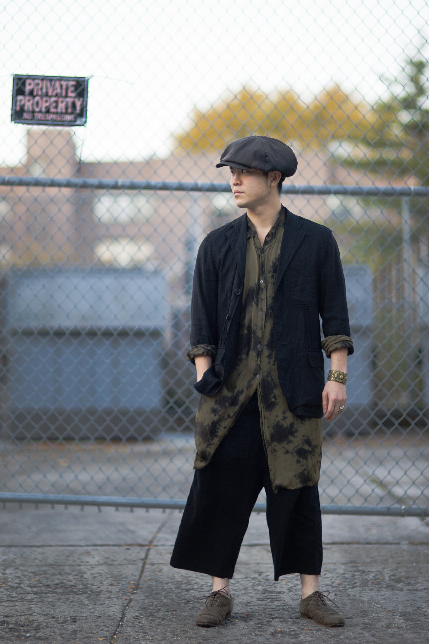 "Rayon ""Smoking"" Long Shirt"
