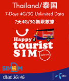 Thailand Dtac Prepaid 4G 3G Travel Roaming Sim Card