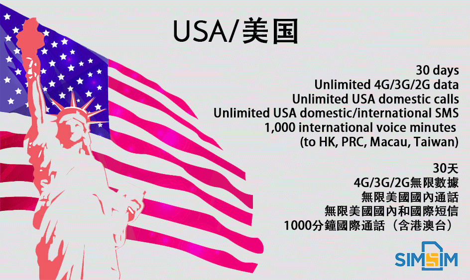 USA America T-mobile 4G 3G Unlimited Data Prepaid Sim Card