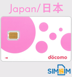 Japan NTT DOCOMO 8 days 4G Unlimited Data Prepaid Sim Card